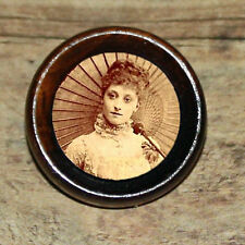 Victorian Fashion PARASOL BEAUTY Altered Art Tie Tack or Ring or Brooch pin