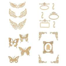 Unfinished Wood Shape Wooden Butterfly Wings for DIY Crafts Scrapbooking Decor