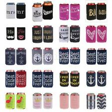 2pcs 20 theme Cheers Bitches/Game Over/Bride Groom Beer Can Cooler Wedding Favor