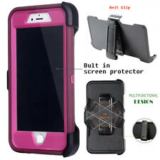 For Apple iPhone Case Cover Wine Red - (Belt Clip fits Otterbox Defender series)