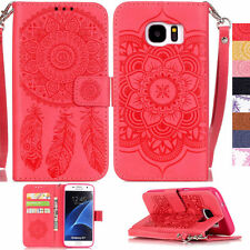 Dreamcatcher Patterned Case for Various Samsung Galaxy Phones PU Leather Cover