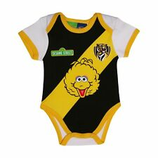 Richmond Tigers AFL Footy Baby Infants Sesame St Play Romper
