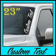 Custom Windshield Lettering Decal Sticker Graphics Vertical Race Text Business