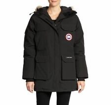 NEW 100% Authentic Canada Goose Womens Expedition Parka Navy/ Red 4546L