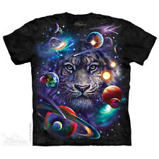 White Tiger Cosmos Kids T-Shirt by The Mountain. Big Cat Tiger Lion Leopard NEW