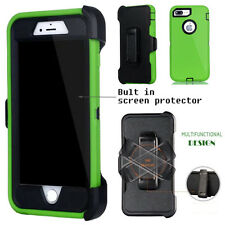 For Apple iPhone Case Cover Green -(Belt Clip fits Otterbox Defender series)
