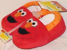 New Sesame Street ELMO Furry Slippers w/ Embroidered Face, Lg 9-10,  X-Lg 11-12