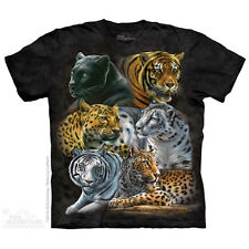 Big Cats Kids T-Shirt by The Mountain. Big Cats Tiger Lion Leopard Zoo Animals