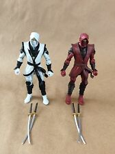 Marvel Legends Hand Ninja Red and White lot of 2 Loose