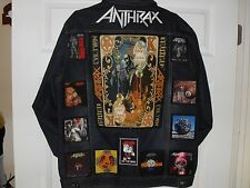 Anthrax Tribute Jackets-Blue XL......Slayer,Anthrax,Iron Maiden,ACDC,Testament