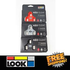 LOOK KEO BI-Material Cleats - Grey / Red / Black