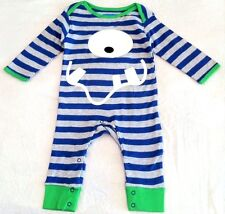 New Lily&Jack Boys Monster Romper Baby Grow Playsuit 100% Cotton 3-6,9,12-18 Mth