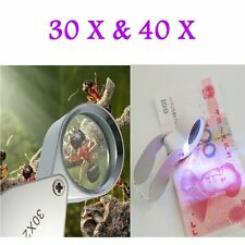 30X/40X Glass Magnifying Magnifier Jeweler Eye Jewelry Loupe Loop LS