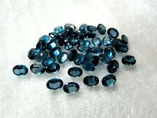 4x3mm- 8x10mm Natural London Blue Topaz Oval Cut Top Quality Blue Color Gemstone