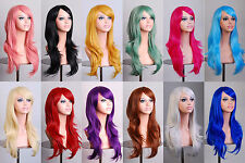"sale 12 colors  Long Hair Heat Resistant Spiral Curly  Cosplay Wig   28"" 70cm"