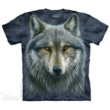 Warrior Wolf T-Shirt by The Mountain. Wild Big Face Wolf Wolves Sizes S-5X