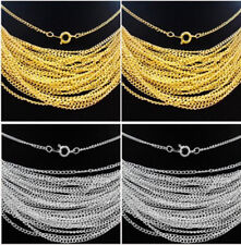 Wholesale 30/50/100/500/1000pcs Silver/Gold plated chain finding With Clasp 43cm