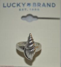 Lucky Brand Antique Silver-tone Seashell Fashion Ring JLD2599 Authentic NWT $22