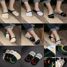 1/5 Pairs Men Loafer Boat Invisible No Show Nonslip Liner Low Cut Cotton Socks