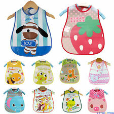 Toddler Baby Boys Girls Kid Waterproof Feeding Bibs Infant Saliva Dribble Towel