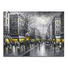 Framed Large Painting Reproduction Canvas Print Wall Art Home Decor Gray Street