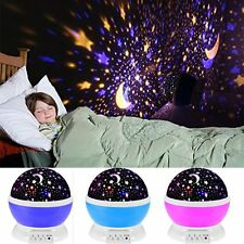 4 LED Starry Night Sky Projector Lamp Star light Cosmos Master Xmas Decor Gifts