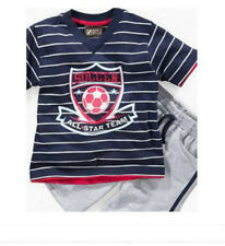 *NWT NEW BOYS 2PC Nannette SOCCER Shirt and Shorts OUTFIT SET 2T 4T 4 5 6