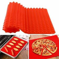 Non Stick Fat Reducing Silicone Cooking Mat Oven Baking Tray Sheets Mat New LO