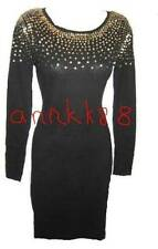 NEW Victorias Secret Womens Moda Embellished Sweaterdress Black Retail $88