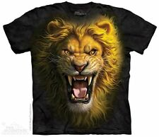 Asian Lion T-Shirt by The Mountain. Wild Big Cats Zoo Animals Sizes S-5X NEW