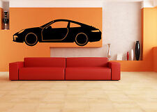 ✔️❤️✔️  Silhouette Porsche Car Wall Sticker Decal Vinyl Decals art 24