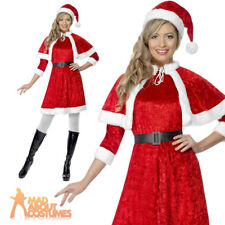 Adult Sexy Miss Santa Costume Ladies Christmas Fancy Dress Outfit New UK 8-14