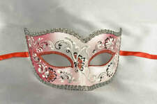 Sweetheart Shaped Masquerade Masks with Silver Trim - Semplice Fiore