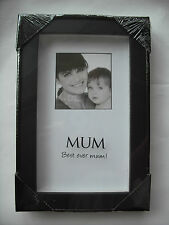 BLACK BLOCK PHOTO FRAME MUM MOM DAD BIRTHDAY XMAS FATHERS MOTHERS DAY GIFT