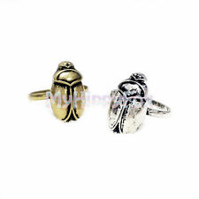 Lucky Brand Antiqued Gold and Silver Tone Egypstian Scarab Beetle Ring