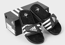 ADIDAS ADISSAGE K Kids Black White Sandal Slippers 078285 Sz4-6Y Fast Shipping s