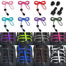 1Pair No-Tie Strong Elastic Canvas Sports Shoe Laces Bootlace Lock Shoelaces CA