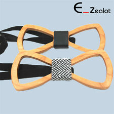 Creative Hollowed-out Men Wooden Bow Tie Wood Wedding Bow Tie Fashion