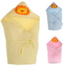 Infant Baby Swaddle Cotton Receiving Swaddling Blanket Wrap Hooded Sleeping Bag