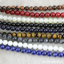 "4-12mm Round Wholesale Lot Natural Stone Gemstone Space Loose Beads Strand 15"" A"