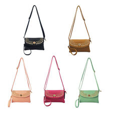 Leather Multicolor Womens Handbags Gold Rivet Purse Tote Shoulder Bag Xmas Gift