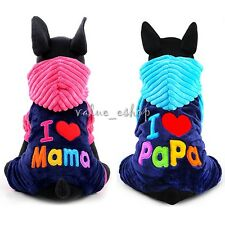 Pet Dog Winter Hoodie Puppy Cat Warm Coat Jacket Jumpsuit Hooded Clothes Apparel