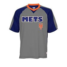 New York Mets MLB Mens V-Neck Team Graphics Short Sleeve T-shirts: L-2XL
