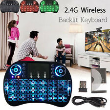 Backlit Wireless Touchpad MINI Keyboard Air Mouse For PC Pad Android TV Box LOT