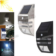 New Solar Powered LED PIR Motion Sensor Security Garden Outdoor Light Porch Shed