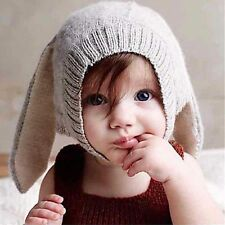 Toddler Girls Boys Crochet Earflap Beanie Hat Newborn Baby Kids Warm Soft Cap MD