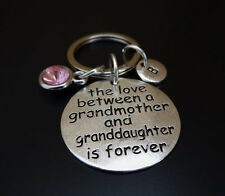 The Love between a Grandmother and Granddaughter is forever Keychain, Nana Gift