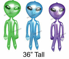 "Alien Inflatable Figure 36"" Kids Blow Up Toy Space Stars Moon Mars UFO RM1577"