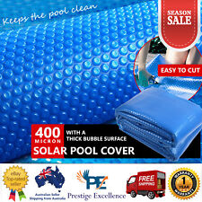 New Solar Swimming Pool Cover 400 Micron For Outdoor Bubble Roller Blanket Blue