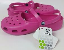 CROCS CLASSIC MARY JANE 2 STRAP PINK FUCHSIA CASUAL SHOES SLIP ONS CLOGS SANDALS